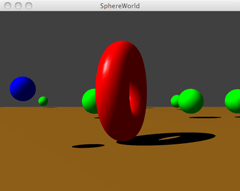 Sphere World upgraded to solid bodies with shadows!