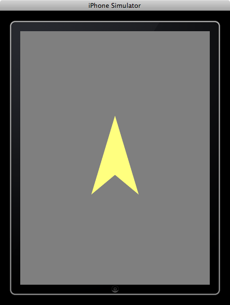HelloArrow: a yellow arrow on a gray background